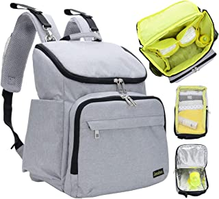 Diaper Backpack for Mom and Dad - Stylish Designer Diaper Bag for Women and Men, Boys and Girls - Baby Bookbag Includes Changing Pad, Large Roomy Pockets, Insulated Pouch - Great For Travel