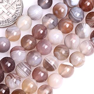 GEM-insid Botswana Agate Gemstone Loose Beads Natural Energy Power Beads For Jewelry Making 6mm Round 15