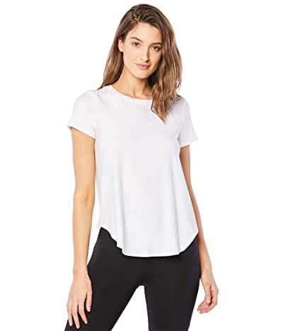 Beyond Yoga Lightweight Spacedye On the Down Low Tee (Cloud White) Women