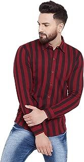 GRITSTONES Men's Printed Regular Collar Full Sleeves Shirt