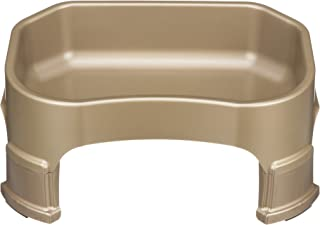 NEATER PET BRANDS Big Bowl with Leg Extensions - (1.25 Gallon/160 oz, Champagne) Huge Jumbo Trough Style Dog Pet Water Dish