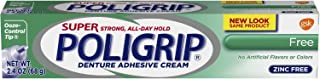 Super Poligrip Original Formula Zinc Free Denture Adhesive Cream, 2.4 ounce (Pack of 4)