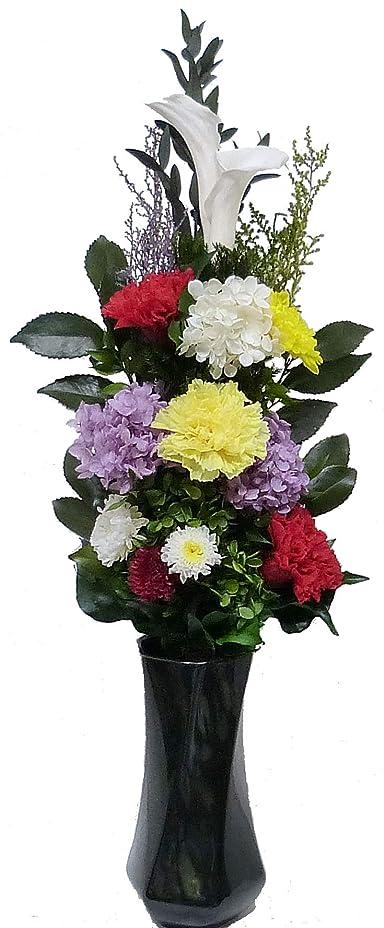 シャッター若い肥沃な【仏花倶楽部?】のプリザーブドフラワー仏花:B01FY4S3FA 【size L 】(お花はもちろん、葉っぱにいたるまで、造花は一切使用しておりません))