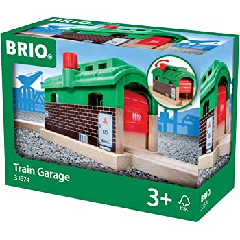 BRIO World 33574 - Train Garage - 1 Piece Wooden Toy Train Accessory for Kids Age 3 and Up