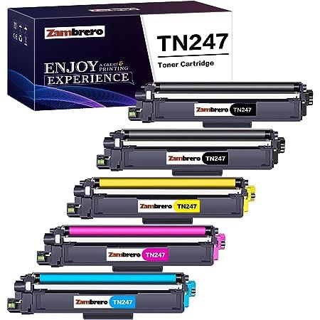 Zambrero Compatibili Brother TN247 TN243 TN-247 TN-243 Cartucce Toner per Brother MFC-L3730CDN MFC-L3770CDW MFC-L3750CDW MFC-L3710CW HL-L3210CW HL-L3230CDW HL-L3270CDW DCP-L3550CDW DCP-L3510CDW