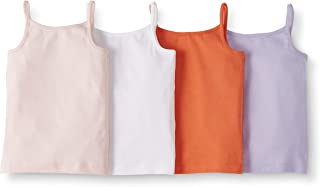 Moon and Back by Hanna Andersson Girls' 4-Pack Organic Cotton Camisole