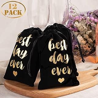 Whaline 12 Pcs Bachelorette Hangover Kit Bags Velvet Wedding Party Favor Bags Bridesmaid Gifts Bridal Party Drawstring Bags for Bridal Shower Wedding Party Gift Decoration, 4
