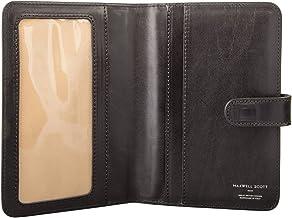 Maxwell Scott Italian Leather Travel Document Case - Vieste Black