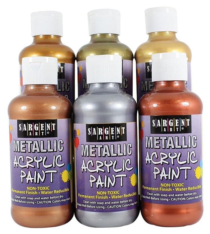 Sargent Art 25-2399 6-Count 8-Ounce Metallic Acrylic Set