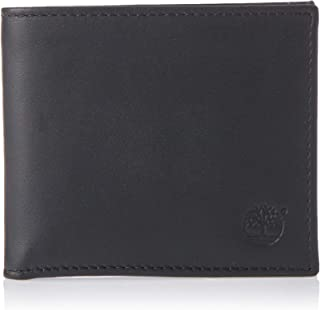Timberland Mens Wallets, Card Cases & Money Organizers Bifold With Coin Wallet,Black (Black)