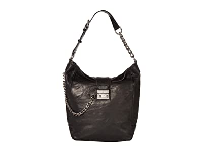Frye Ella Hobo (Black) Handbags