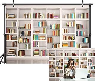 LYWYGG 7x5FT Boekenplank Achtergrond Boekenkast Achtergronden Bibliotheek Achtergrond Kantoor Achtergrond voor Video Confe...