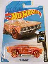 Hot Wheels 2019 Treasure Hunt X-Raycers 9/10 - '69 Chevelle (Orange)