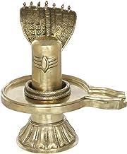 Shiva Linga with Shivas Snake Crowning It - Brass Statue