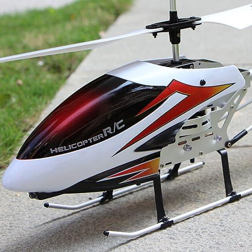 KYOKIM Fernbedienung Helikopter Nachhaltige 10 Minuten Remote-Entfernung  100 Meter Kinderspielzeug mit Fernbedienung,Weiß
