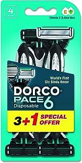 DORCO Pace 6 Men's Disposable Razors, 4 Count ' 1 Units
