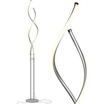 Tall Dimmable Light for Reading Books In your Bedroom Standing Lamp for Living Rooms /& Offices Modern LED Torchiere Floor Lamp Platinum Silver BT-FL-HALO-SPLT-PLTNM-SLVR Pole Brightech Halo Split Bright