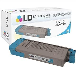 LD Compatible Toner Cartridge Replacement for Okidata 43866103 C710 Series (Cyan)