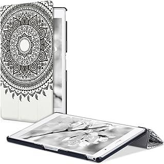 kwmobile 対応: Sony Xperia Tablet Z3 Compact ケース - タブレットカバー - スマートカバー タブレット 保護ケース インド太陽デザイン 黒色/白色 ソニー エクスペリア タブレット