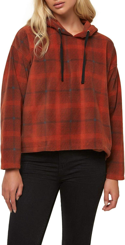 O'NEILL Women's Superfleece Long Sleeve Pullover Hooded Sweatshirt