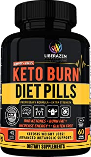 Keto Burn Diet Pills - Instant Ketosis BHB Supplement for Women and Men - Advanced Weight Loss, Energy & Focus - 60 Capsules