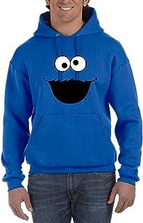Monstruo de Las Cookies - Sudadera Azul Hombre con Capucha