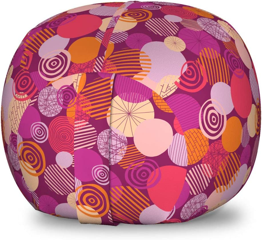 Milwaukee Mall Ambesonne Hipster Quantity limited Storage Toy Bag Spirals Funny A Circles Chair