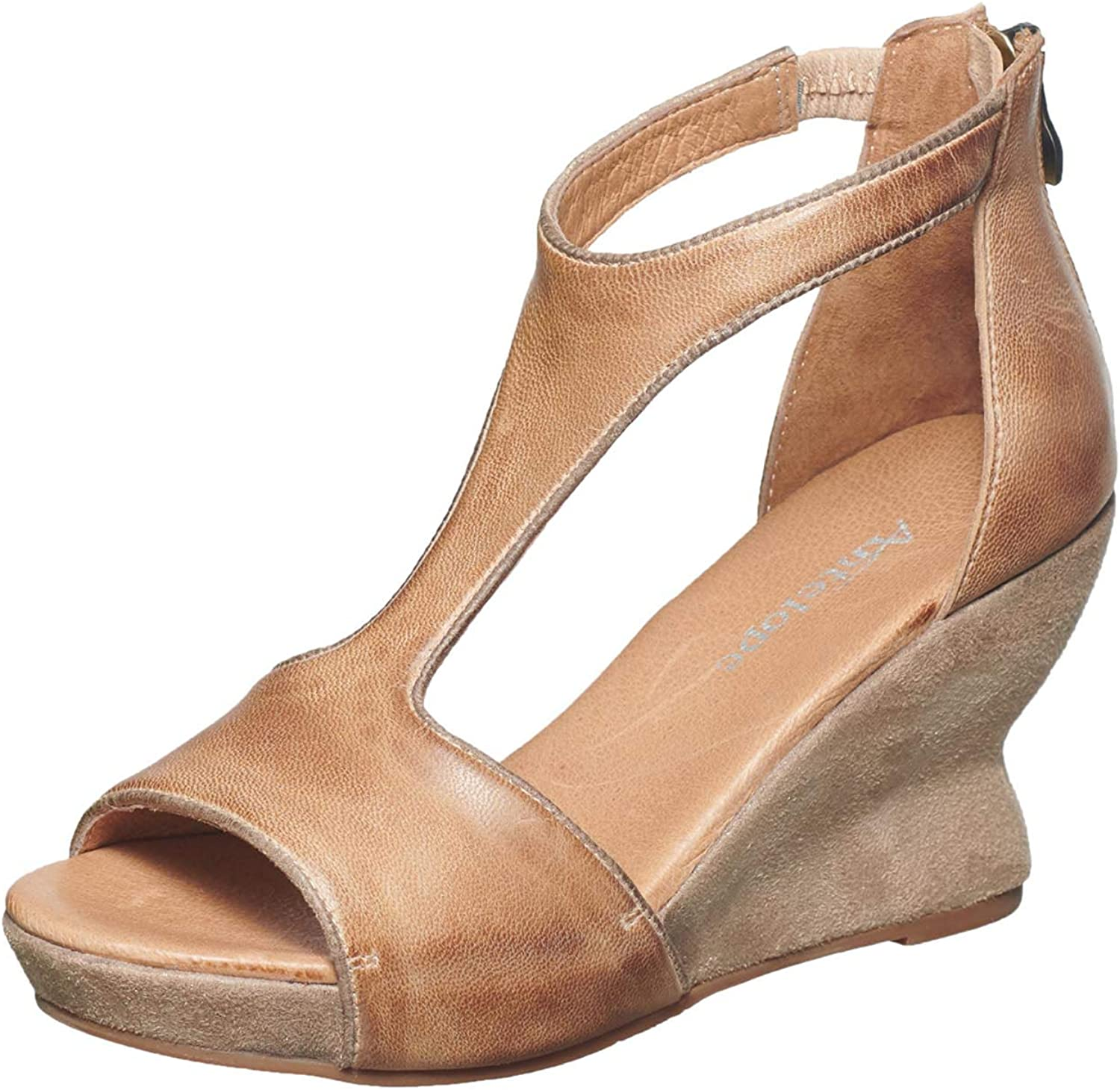 Antelope Women's 691 Leather T-Strap Hourglass Wedge
