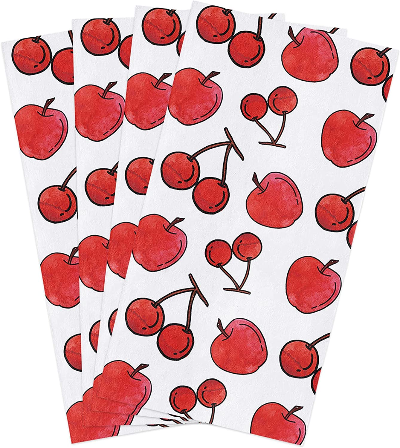 Kitchen Dish Towels 4 Pack-Super Microfiber Soft Absorbent 2021 spring New Free Shipping and summer new Red W