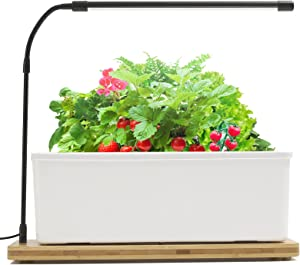 Indoor Herb Garden Kit, Hydroponics Growing System with LED Grow Light, Smart Garden Planter for Home Kitchen, Automatic Timer Germination Kit, Height Adjustable(No Seeds)