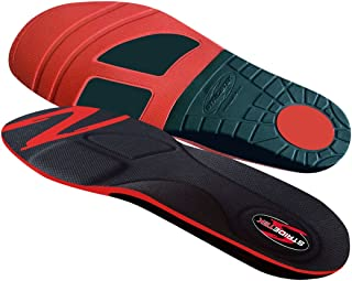 Stridetek Cross Trainer Orthotic Insoles - Arch Support Metatarsal Pad & Gel Plugs Prevent Foot Pain Plantar Fasciitis & Shin Splints - (Red) - Mens 6 / Womens 7