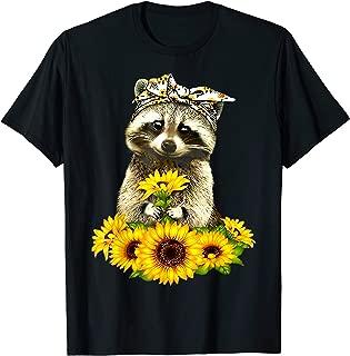 raccoon with bandana t shirt