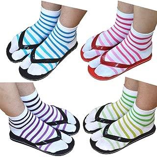Premium Cotton Toe Socks for Women Stylish Tabi Ankle Socks for Flip Flop Pack of 4 (4 Pack)