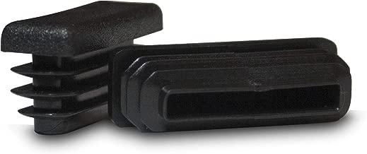 Prescott Plastics 1/2 x 1 1/2 Inch Rectangle Black Plastic Plug End Cap (20)