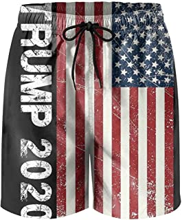 Tru-mps 2020 USA Flag Mens Printing Beach Shorts Swim Trunk Quick Dry