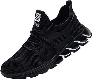Zapatillas de Seguridad Hombre Mujer Ligero Transpirable Zapatos de Seguridad con Puntera de Acero Anti-pinchazo