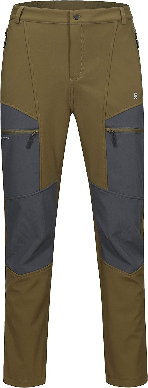 Water Repellant Softshell Insulated Pants Fleece Lined Little Donkey Andy Men/'s Winter Hiking Ski Snow Pants