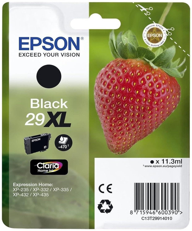 Epson C13T29914022 (29XL) Ink cartridge black, 470 pages, 11ml