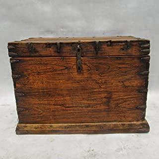 Design MIX Gallery Antique Mongolian Wood & Iron Trunk