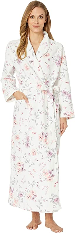 debe53353e262 Carole hochman waffle knit long robe morning blue