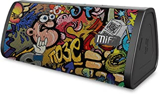MIFA A10 Bluetoothスピーカー ポータブル TWS機能対応 絵柄個体差あり デュアルドライバー 大音量 ハンズフリー通話 Micro SDカード機能つき(落書き)