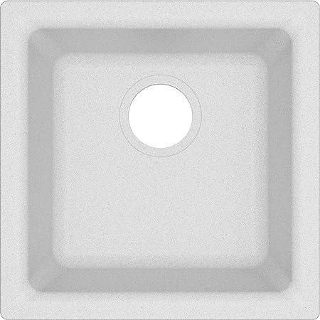 Elkay Quartz Classic ELG1616WH0 White Single Bowl Dual Mount Bar Sink