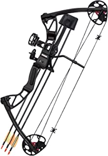 Southland Archery Supply SAS 25-55 Lb 20-29'' Adjustable Quad Limb Compound Bow Package with 3-pin Sight, Arrow Rest, Quiver and Arrows