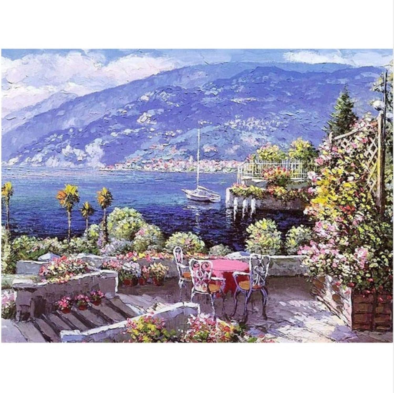 CZYYOU DIY Digital Malen Malen Malen Nach Zahlen Sea Island Stuhl Ölgemälde Wandbild Kits Farbeing Wandkunst Bild Geschenk - Ohne Rahmen - 50x60cm B07NKVJTVX | Vorzugspreis  582c2c