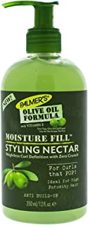 Palmer's Olive Oil Formula Moisture Fill Styling Nectar for Hair Curl Definition, 12 Ounce