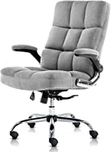 SP Velvet Office Chair Adjustable Tilt Angle and Flip-up Arms Executive Computer Desk Chair, Thick Padding for Comfort and...