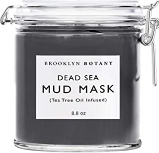 Dead Sea Mud Mask - Infused With Tea Tree Oil - Facial Mask for Acne and Oily Skin, Pore Minimizer, Blackhead Remover, For...