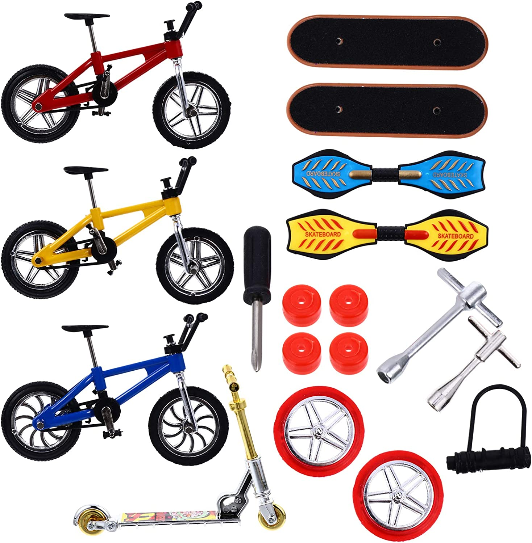 NUOBESTY 18pcs Regular dealer Set Finger discount Mini Skateboard Fin Skateboards