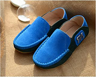 SF Children's Shoes Leather Boy Casual Sports Shoes Spring and Autumn Peas Shoes Soft Bottom Lazy Shoes
