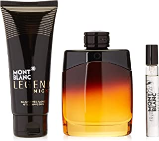 MONT BLANC Legend Night Edition Perfume, 100 ml + Mini Perfume, 7.5 ml + After Shave, 100 ml Set For Men
